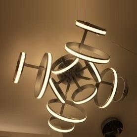潮灯馆室内现代100W砂银吸顶灯