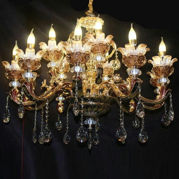蜡烛水晶奢华吊灯