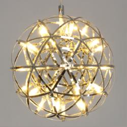 工业风创意暖光火花球服装店餐厅LED吊灯