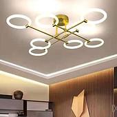 卧室客厅LED铁亚克力吸顶灯