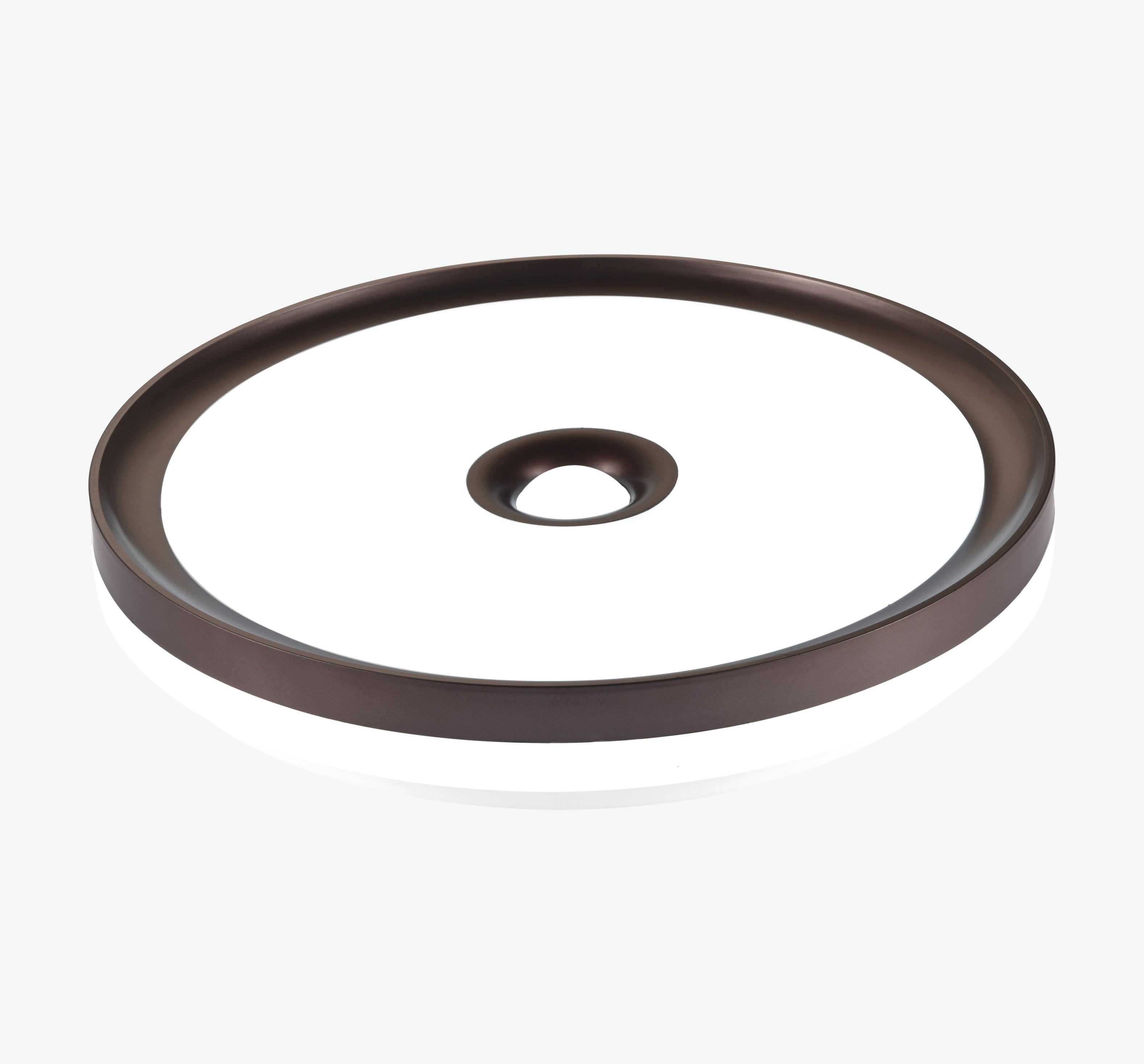 LED现代简约圆中圆棕色外圈吸顶灯