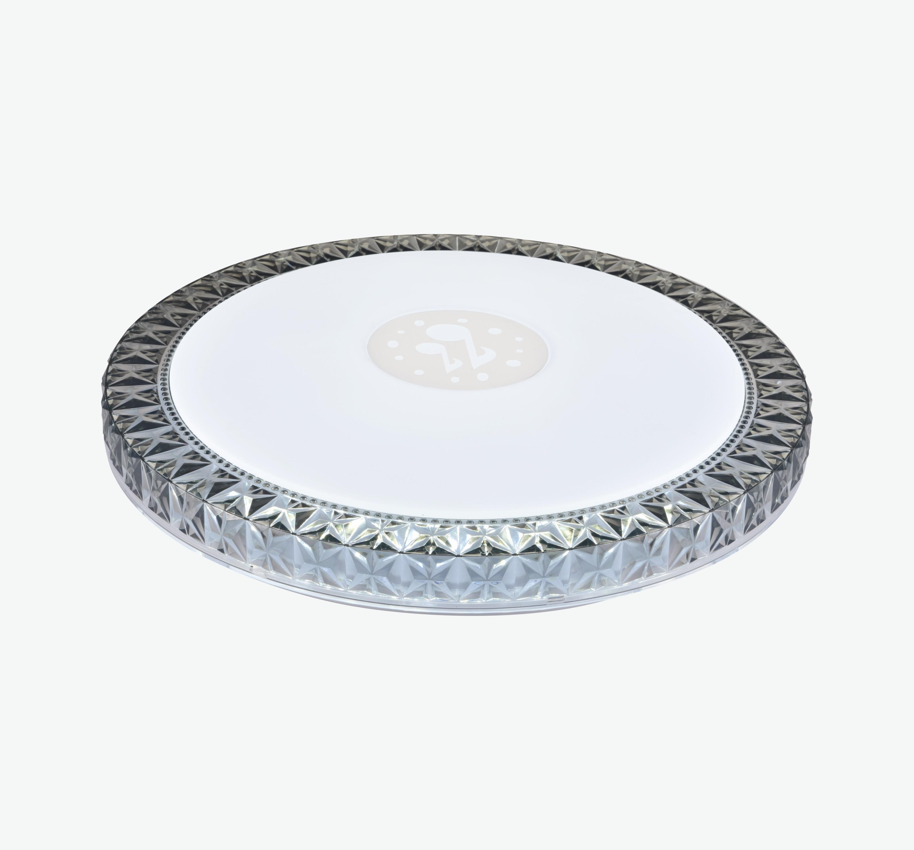 LED现代客厅圆形钻边外圈吸顶灯