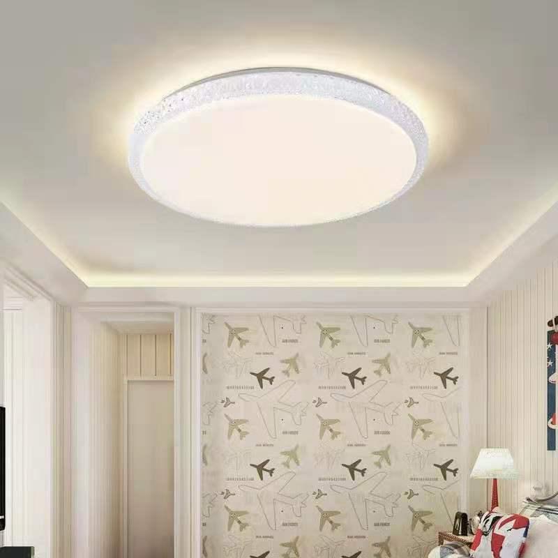 LED家用客厅白色边框双色温吸顶灯