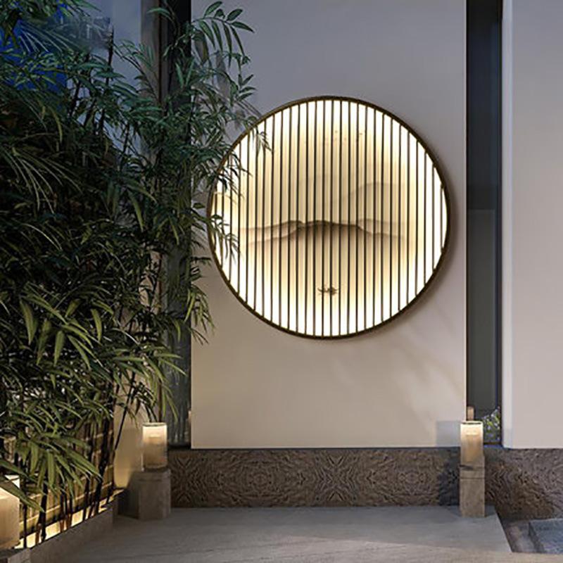 联球新中式壁灯壁画灯户外防水客厅走廊庭院景观灯室外别墅花园外墙灯
