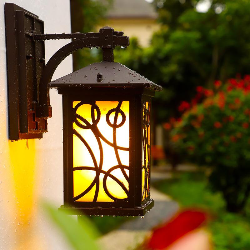 联球美式复古户外露台壁灯LED室外防水阳台楼梯灯现代走廊过道庭院墙灯