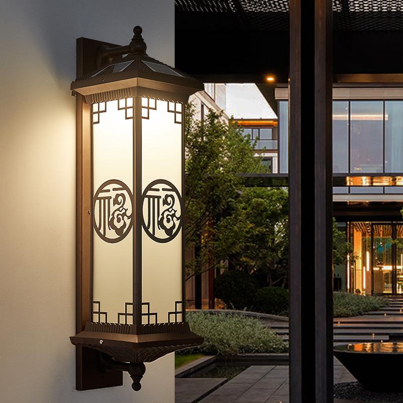 联球led中国风户外防水壁灯室外阳台别墅大门口墙灯庭院外墙新中式轻奢花园露台灯